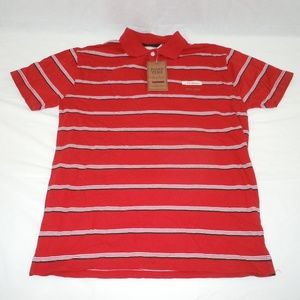 Italy Point Zero Polo Shirt NWT Large Red Italian